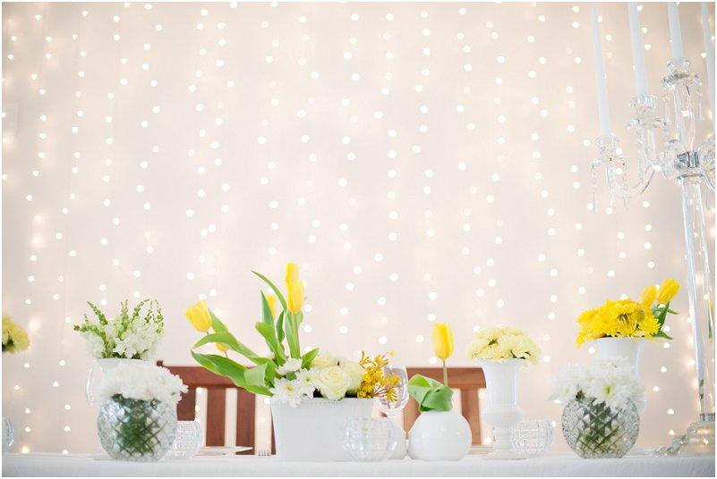 yellow wedding decor