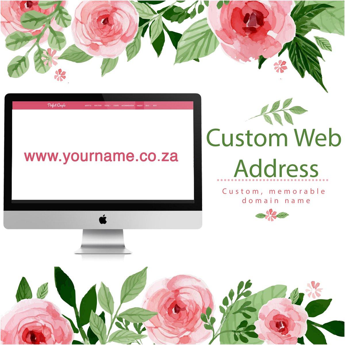 custom web address