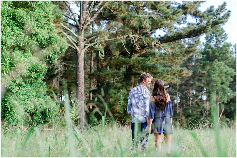 forest engagement photo shoot