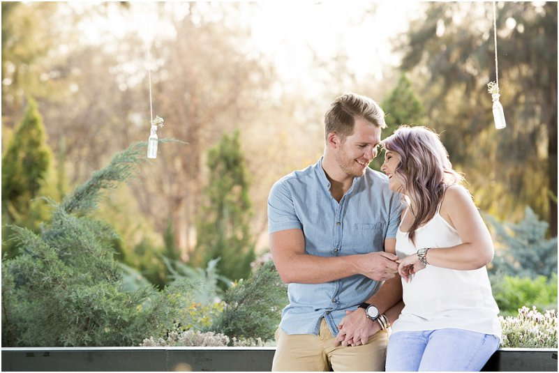 cute engagement photo shoot