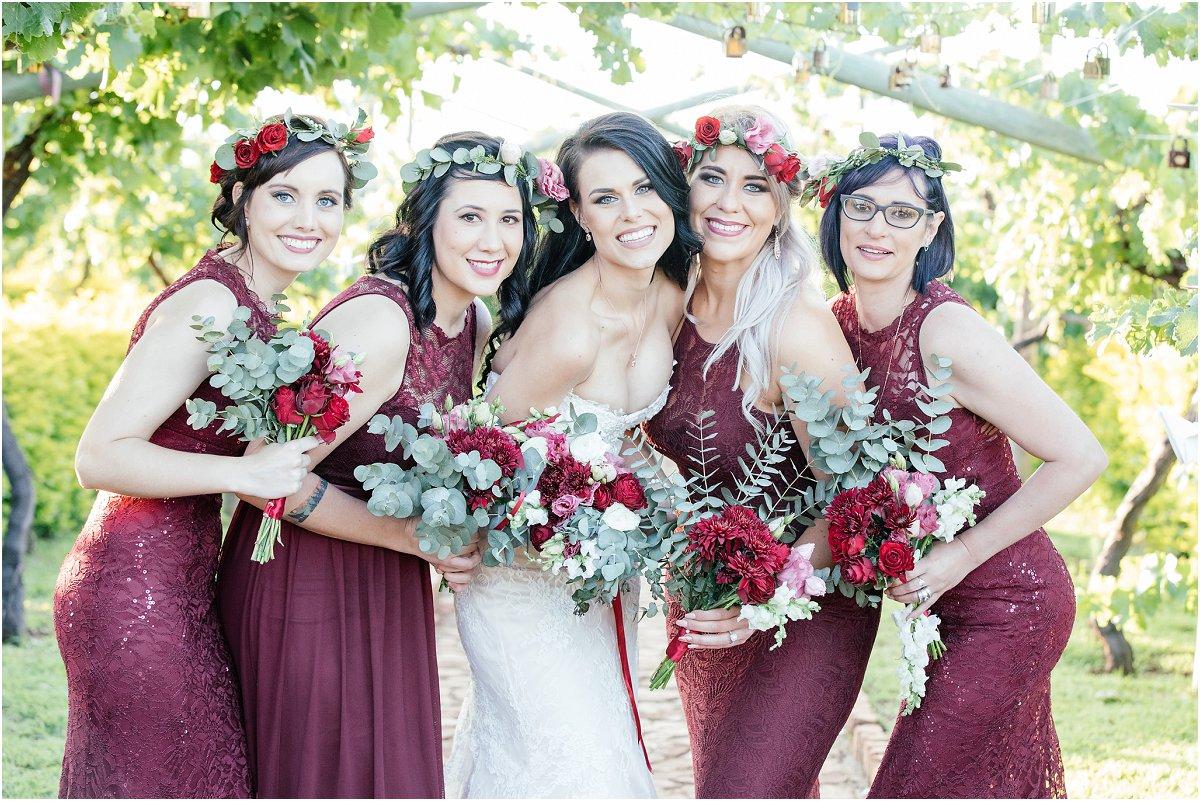 Bride with bridemaids photo