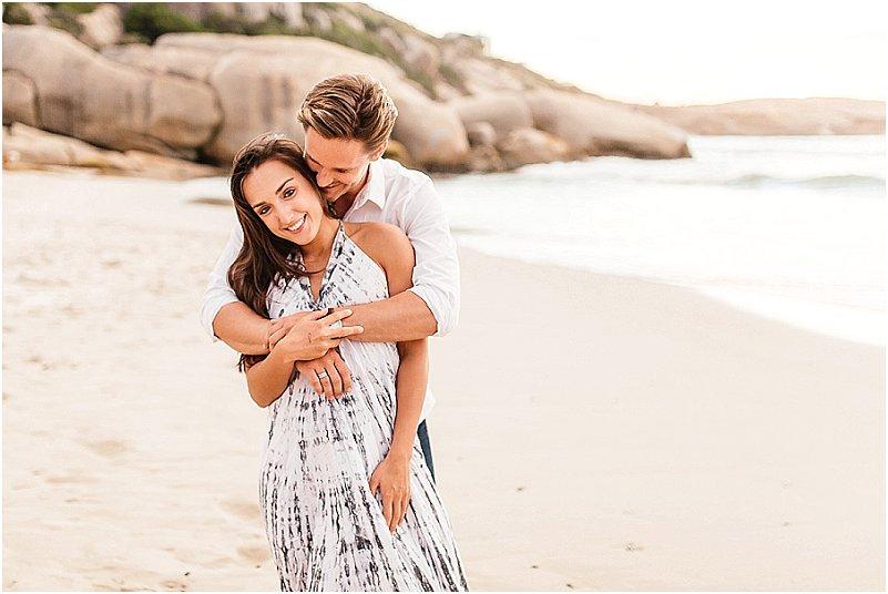 Llandudno beach engagement photography