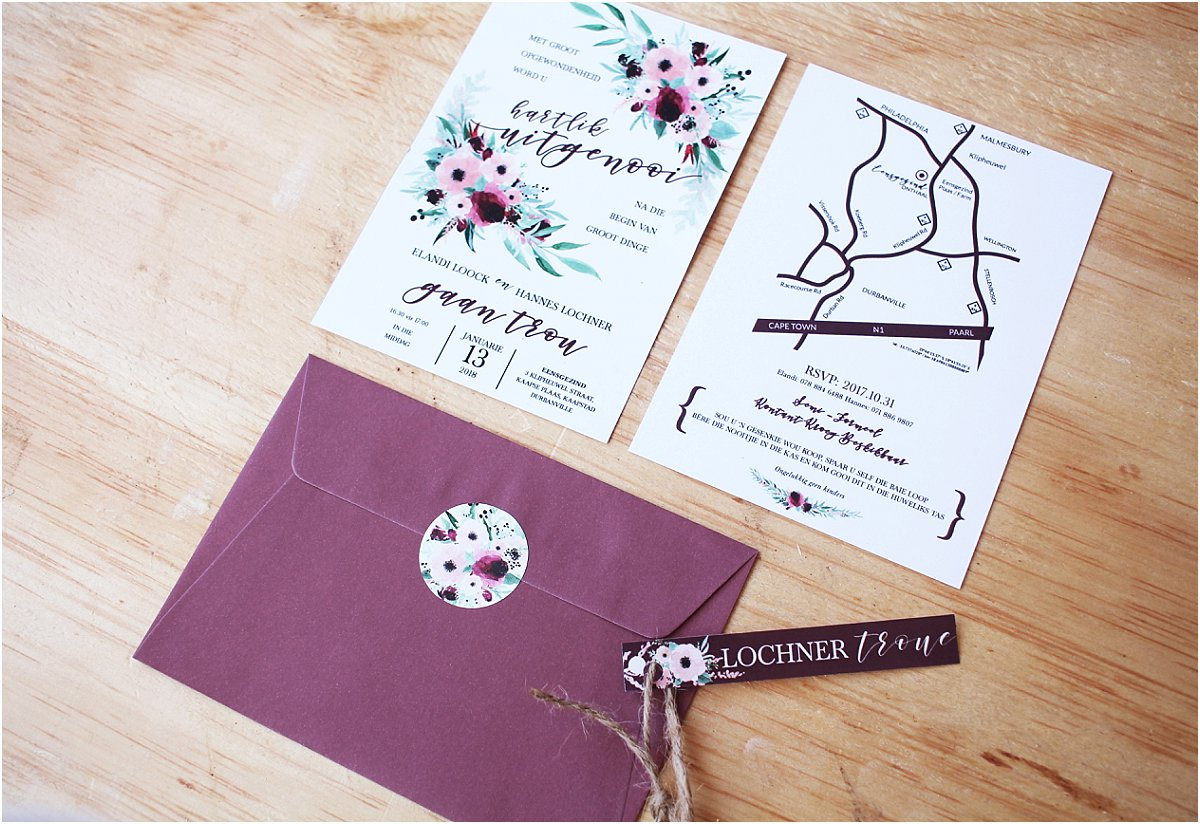 wedding stationery south africa