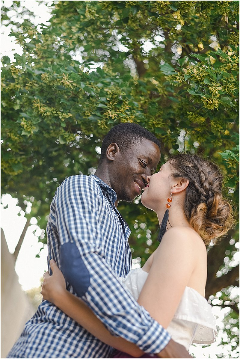 interracial couples engagement photos