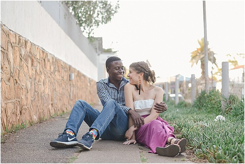 interracial couples engagement photos
