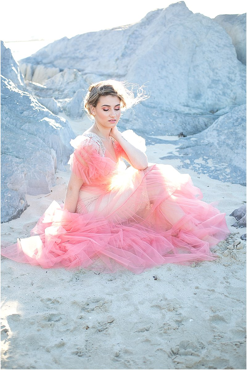 pantone living coral wedding dresses