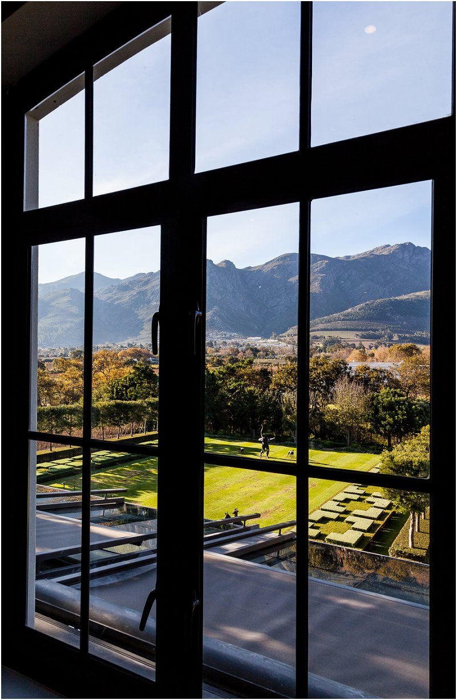 Window, artwork, formal garden. mountain view,Hotel Room, leeu collection, vorsprung studio photography