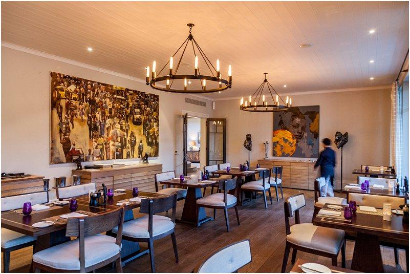dinning room, restaurant, art, leeu collection, vorsprung studio photography