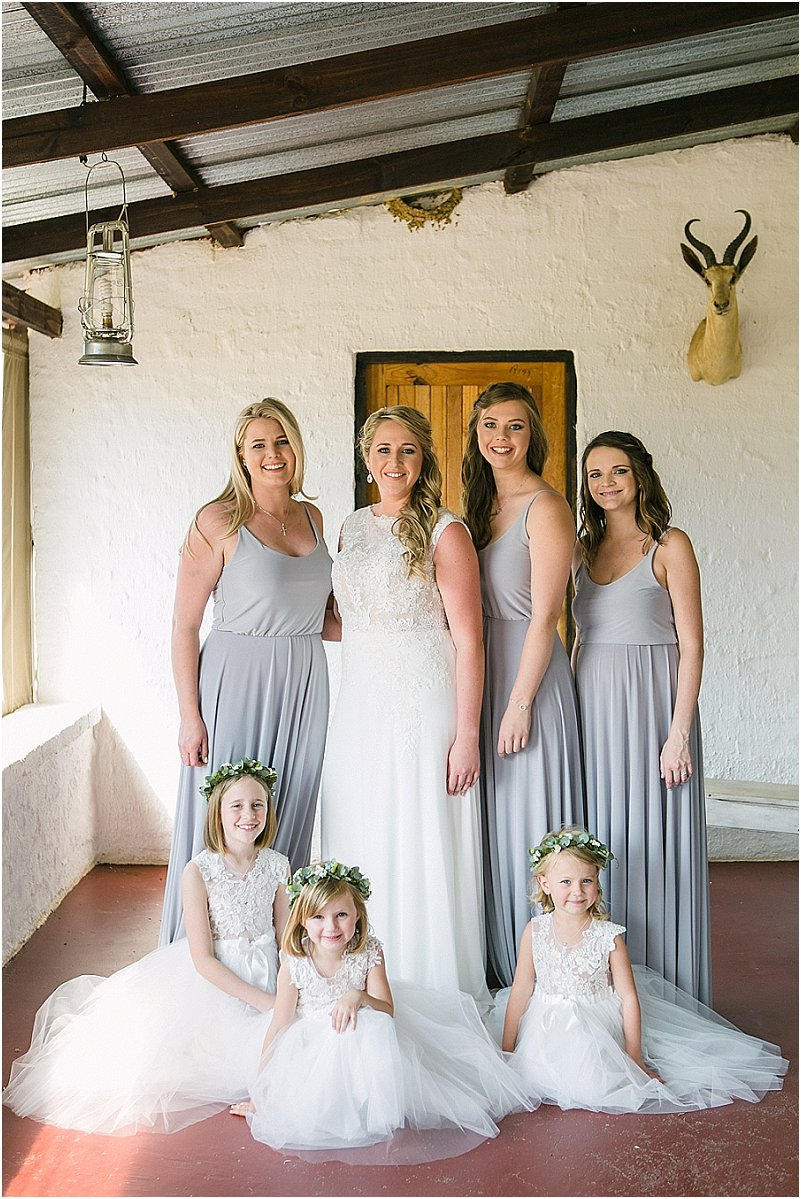 bridesmaids flowergirls