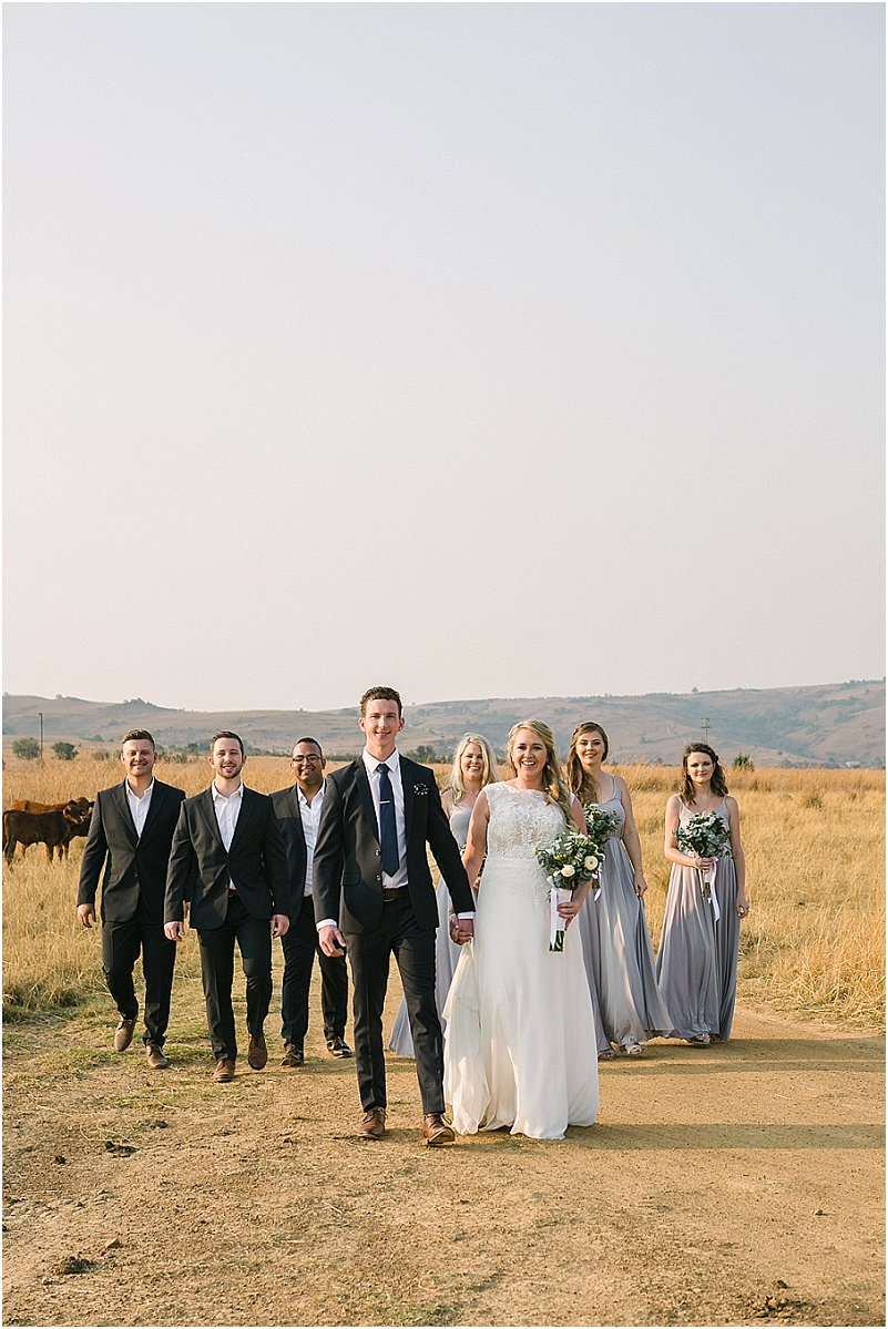 bridal party bridesmaids groomsmen