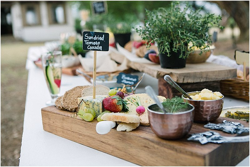 farm style wedding food