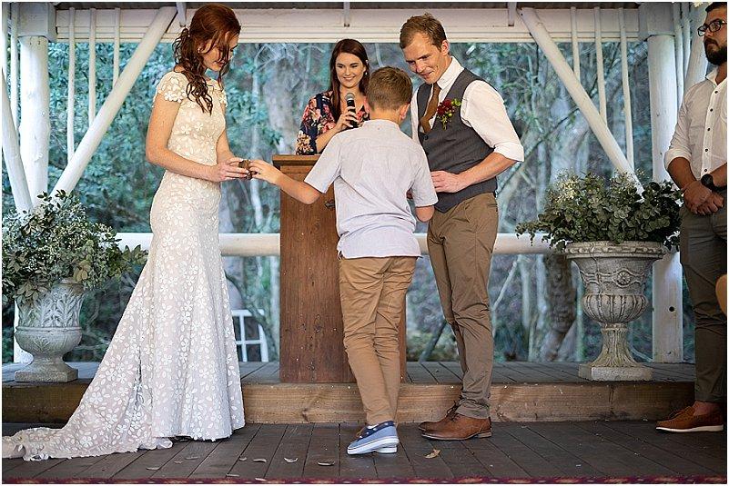 bride, ring bearer, groom