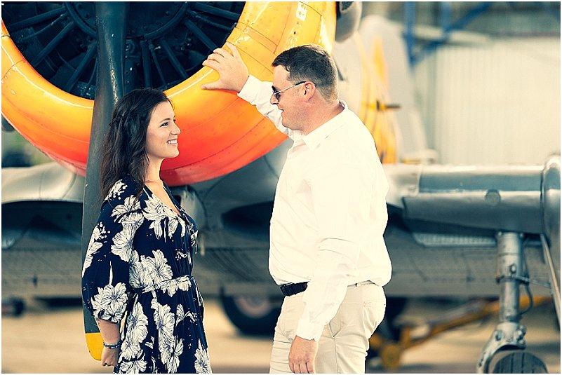 aviator engagement photoshoot