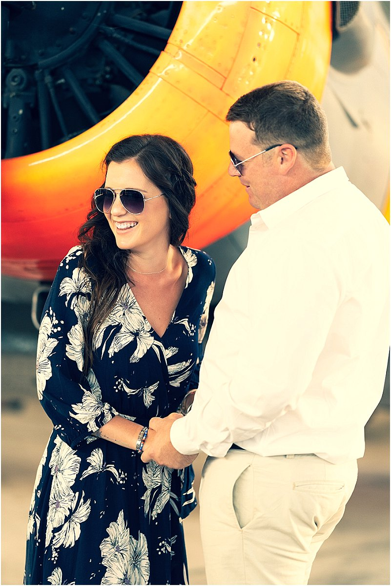 aviator engagement photoshoot