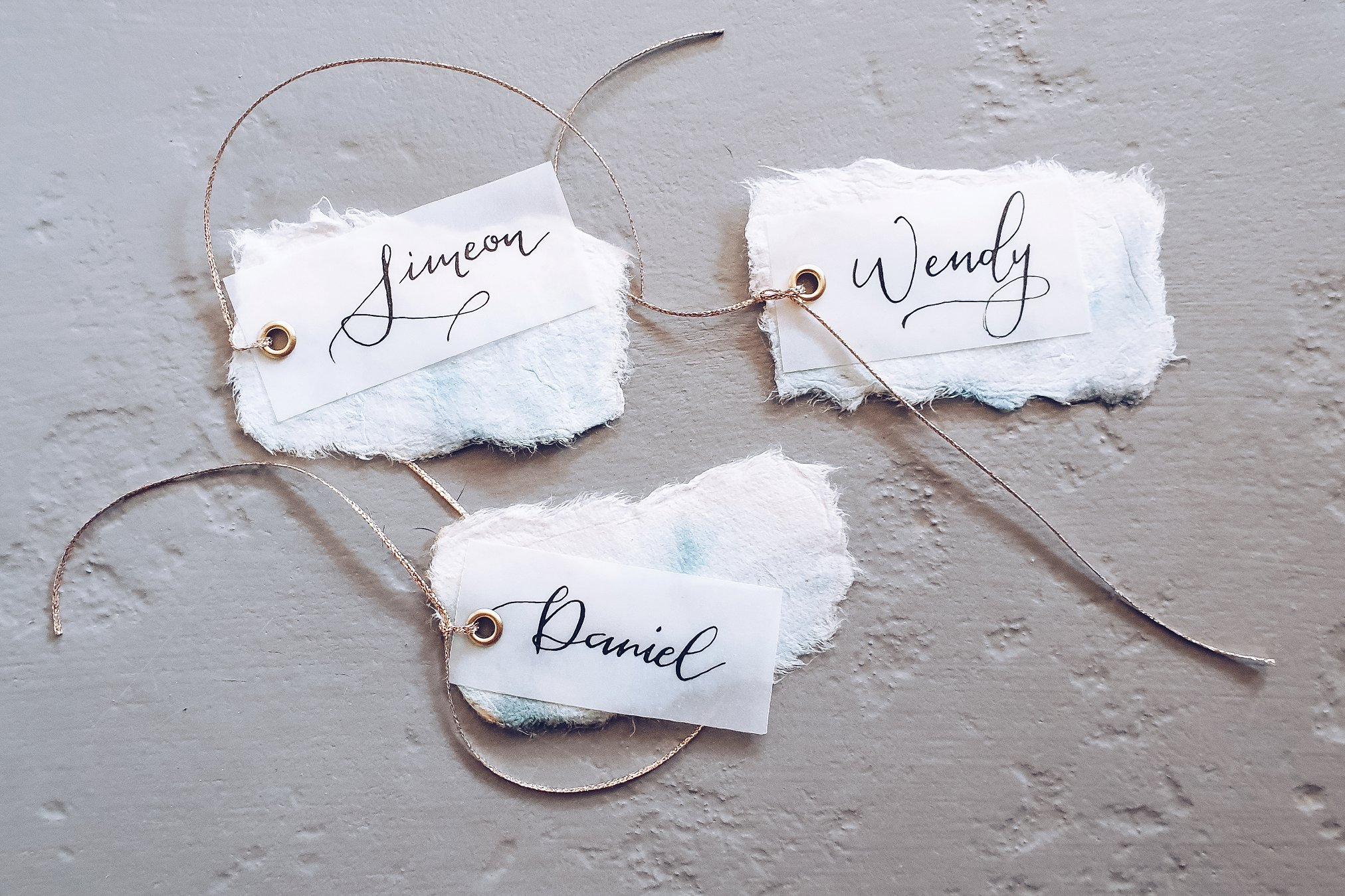 Handwritten Calligraphy wedding name tags