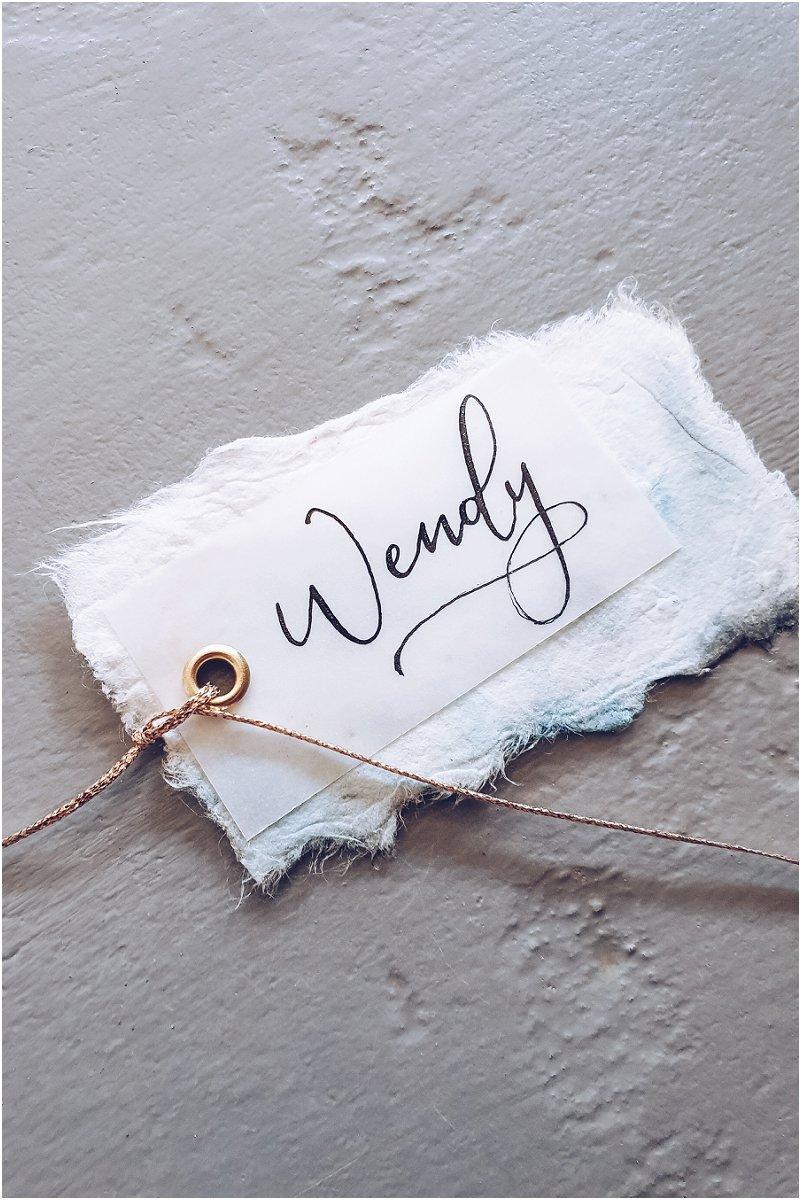 Handwritten Calligraphy wedding name tags