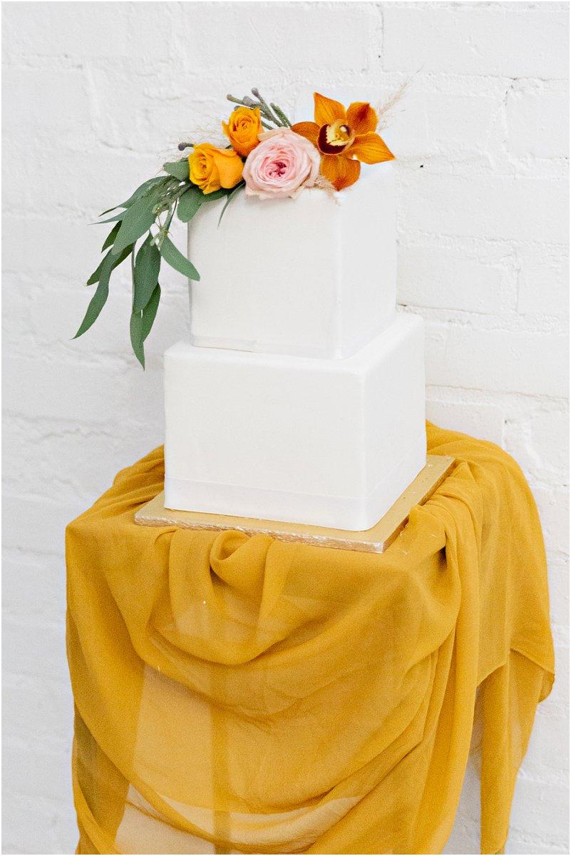mustard wedding cake