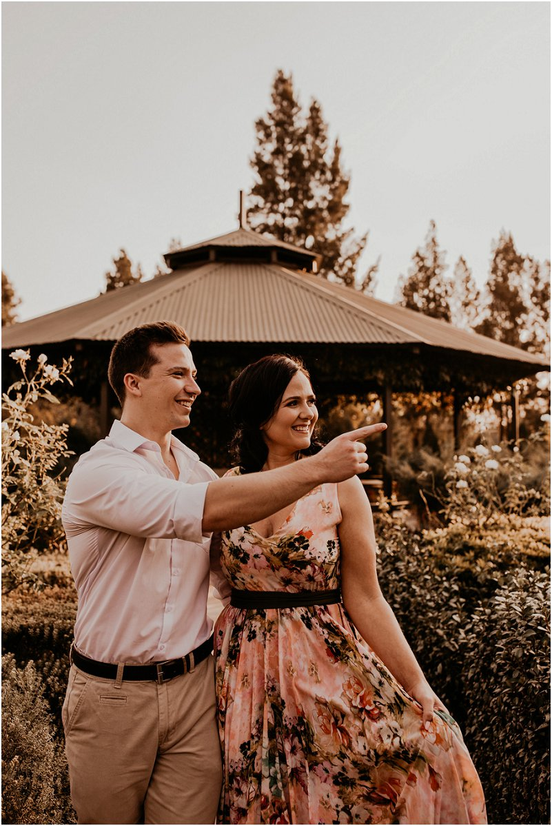 engagement photos at Rosemary Hill