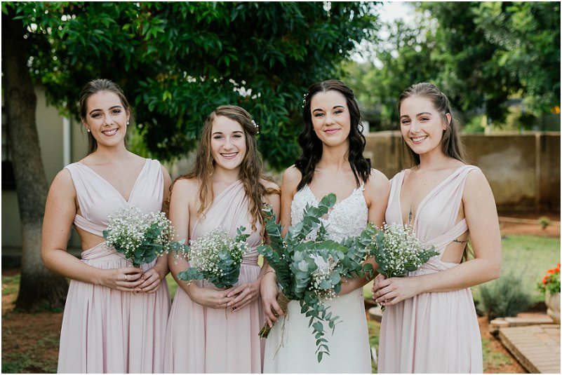 bride and bridemaids dresses