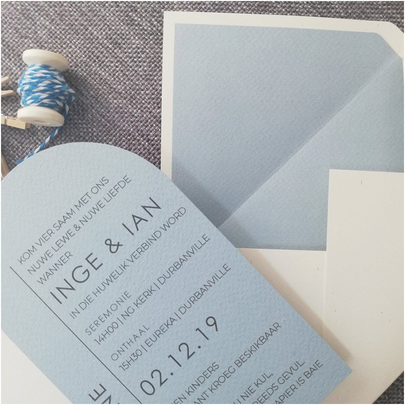 Light Blue Wedding Invitation Inspiration