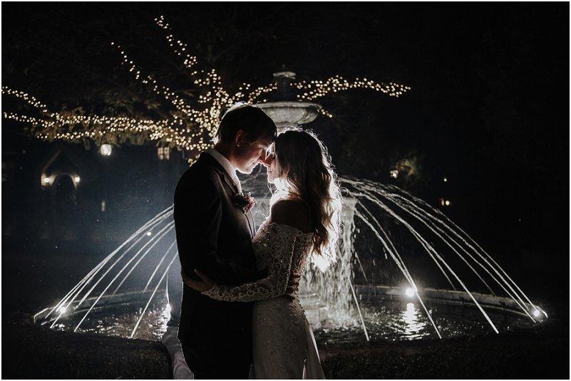 modern winter wedding