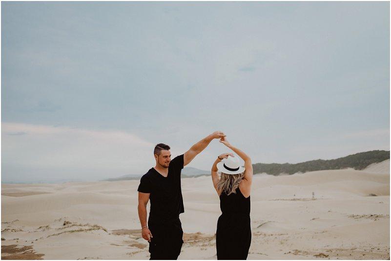 beach engagement shoot