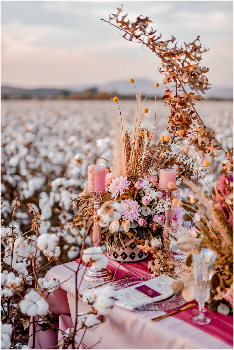 cottonfield wedding inspiration