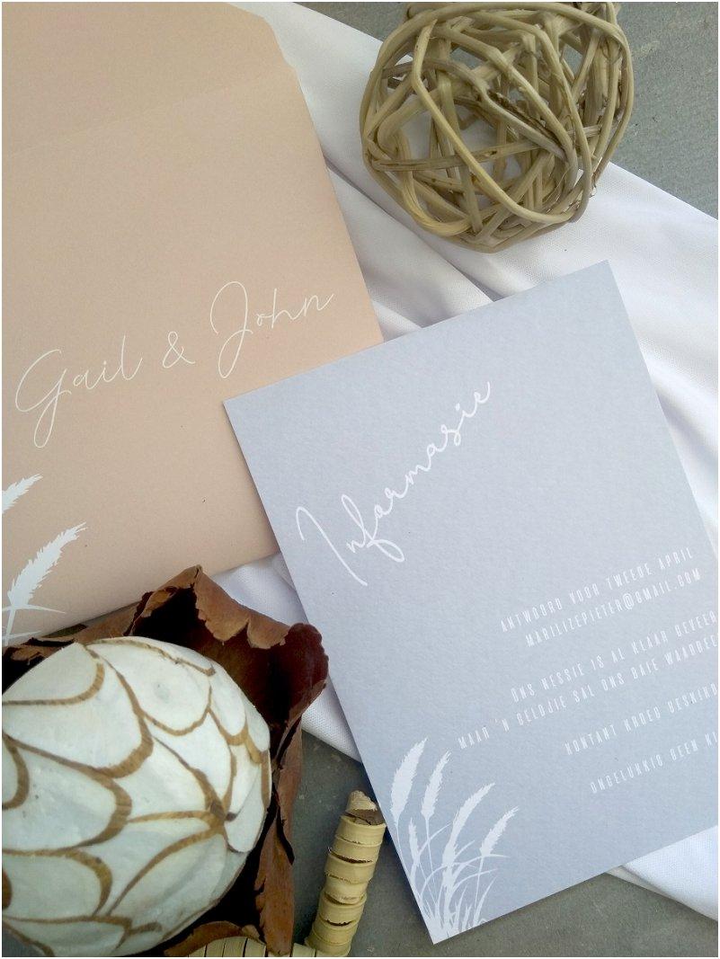 Dried Flower Wedding Invitation Inspiration