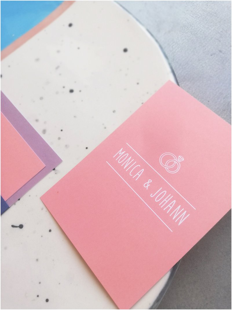 Minimalist Pink Wedding Invitation