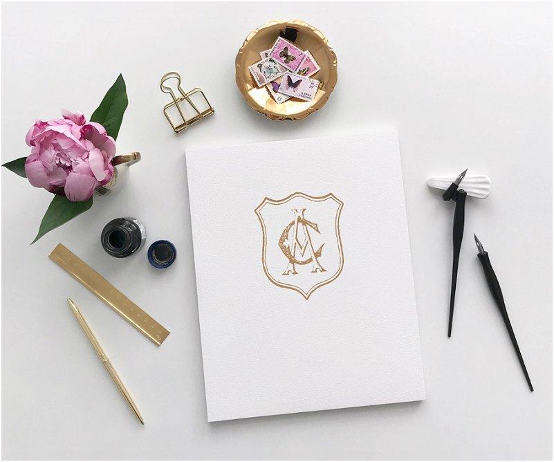 Wedding crest stationery inspiration