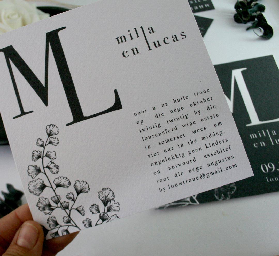 Black & White elegant wedding stationery