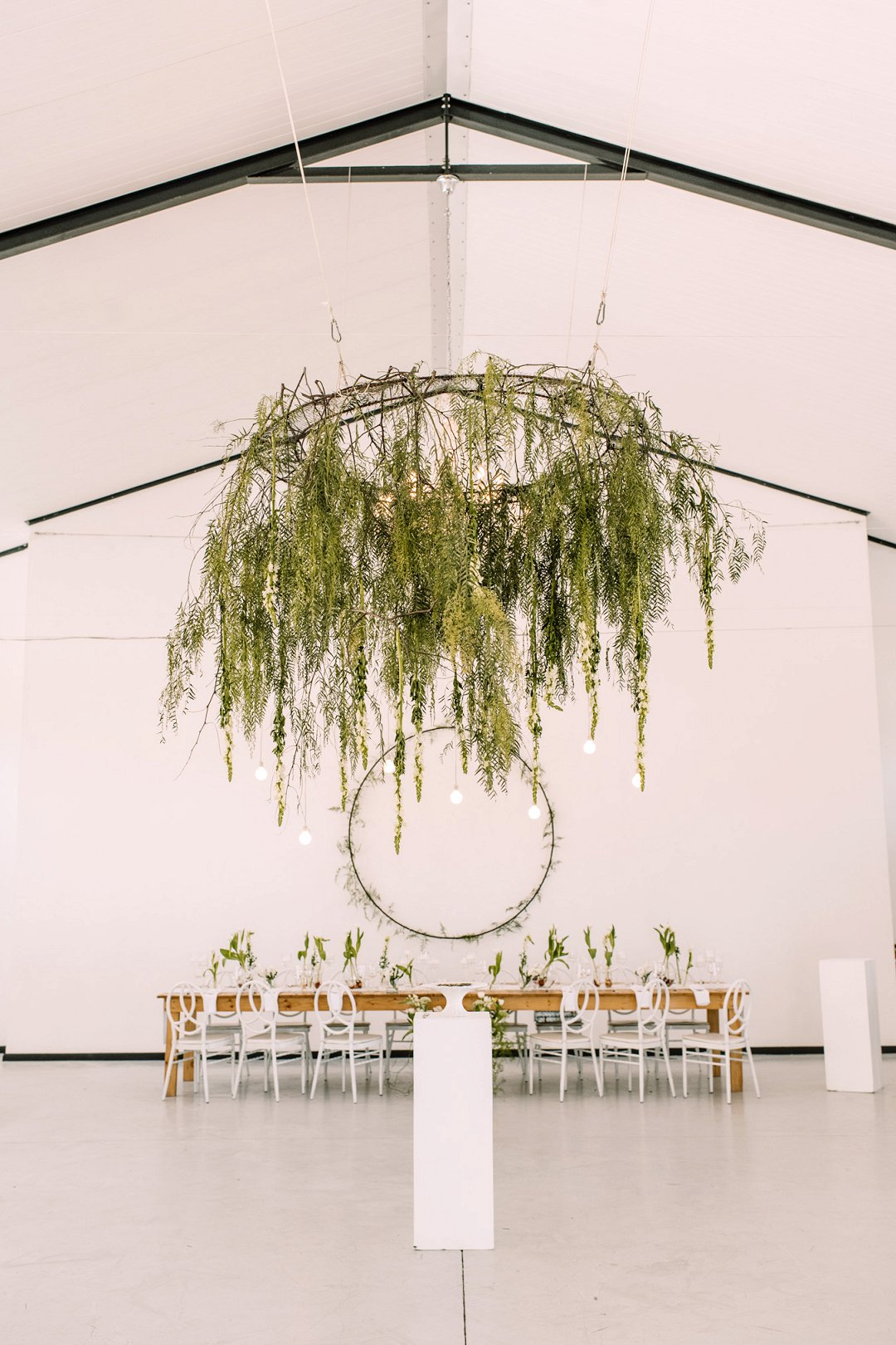 modern farm wedding