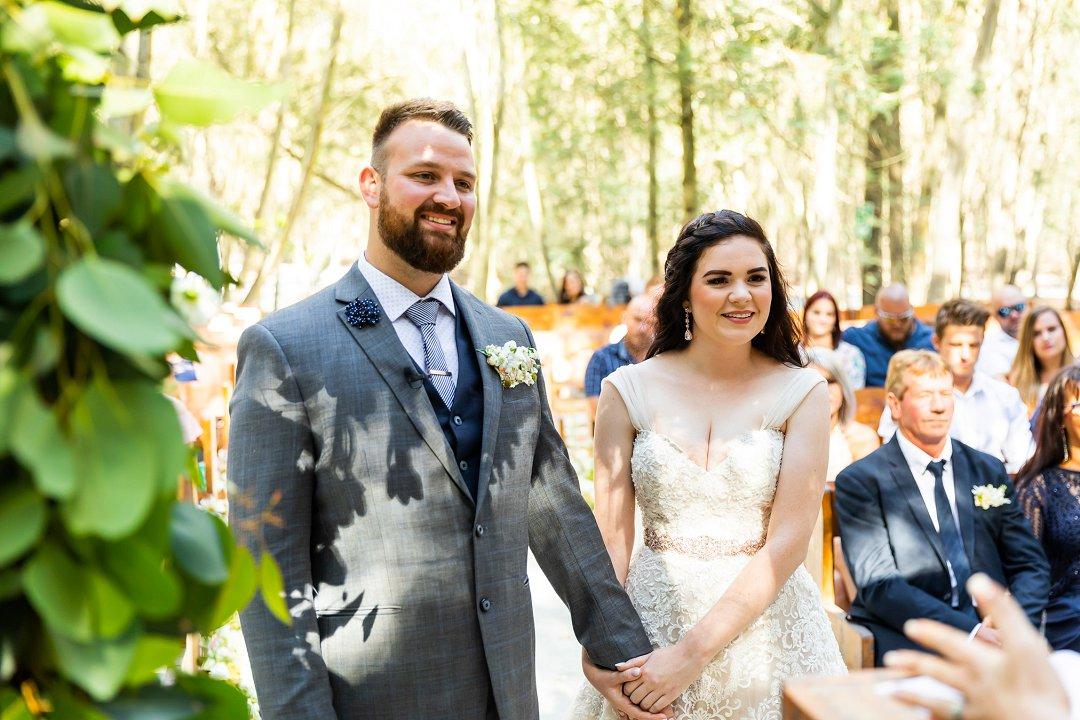 beautiful forest wedding