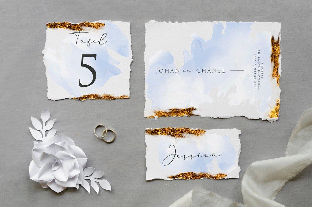 Modern Watercolor Inspired Wedding Stationery