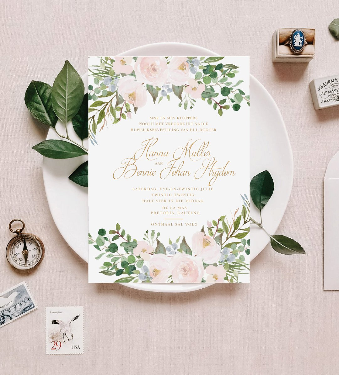 Soft Pastel Wedding Invitations