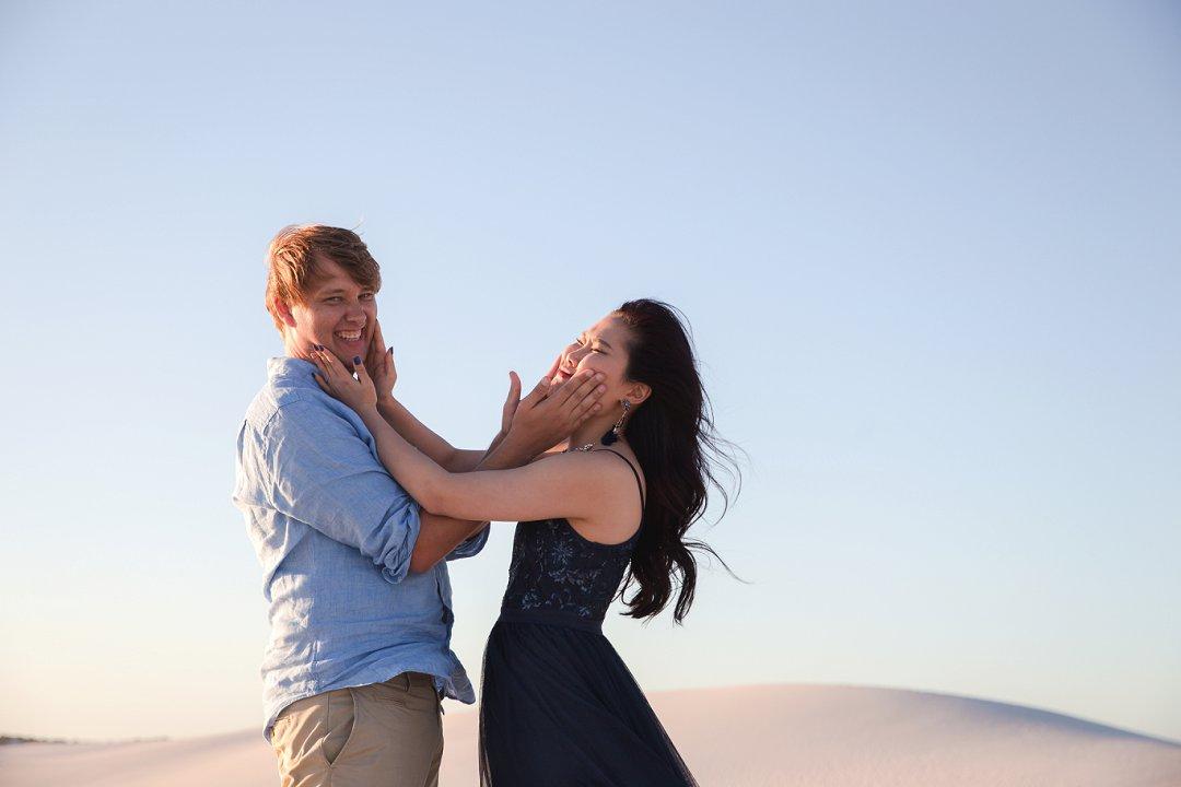 engagement on atlantis dunes cape town
