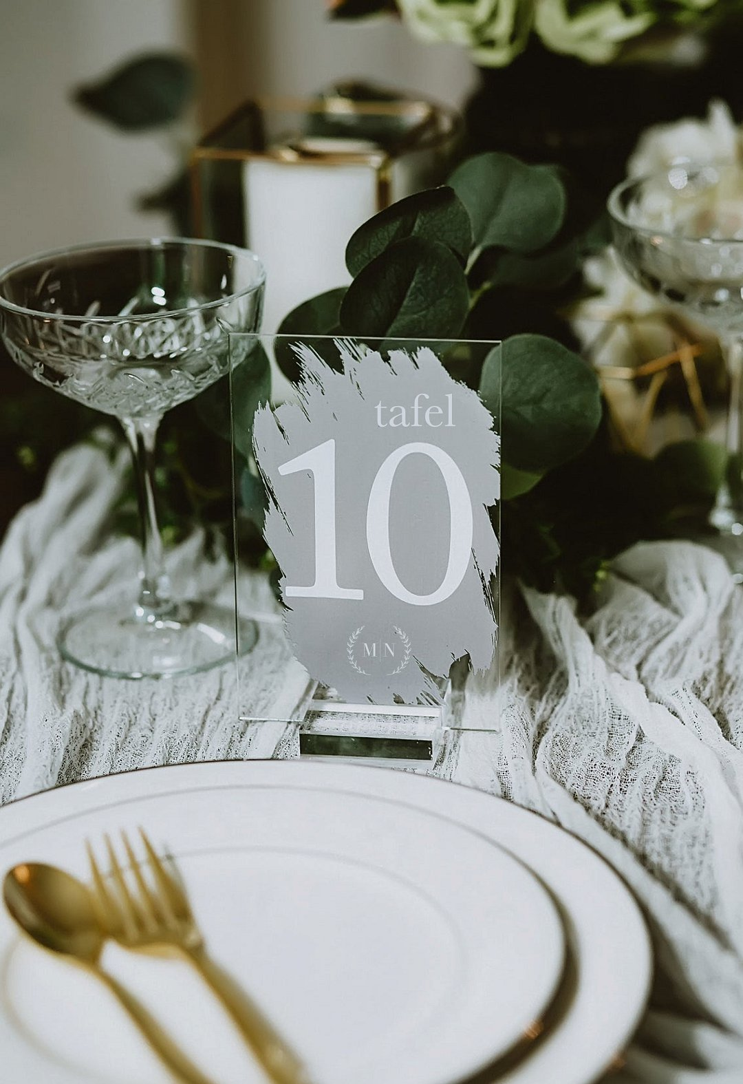Painted Transparent Table Numbers