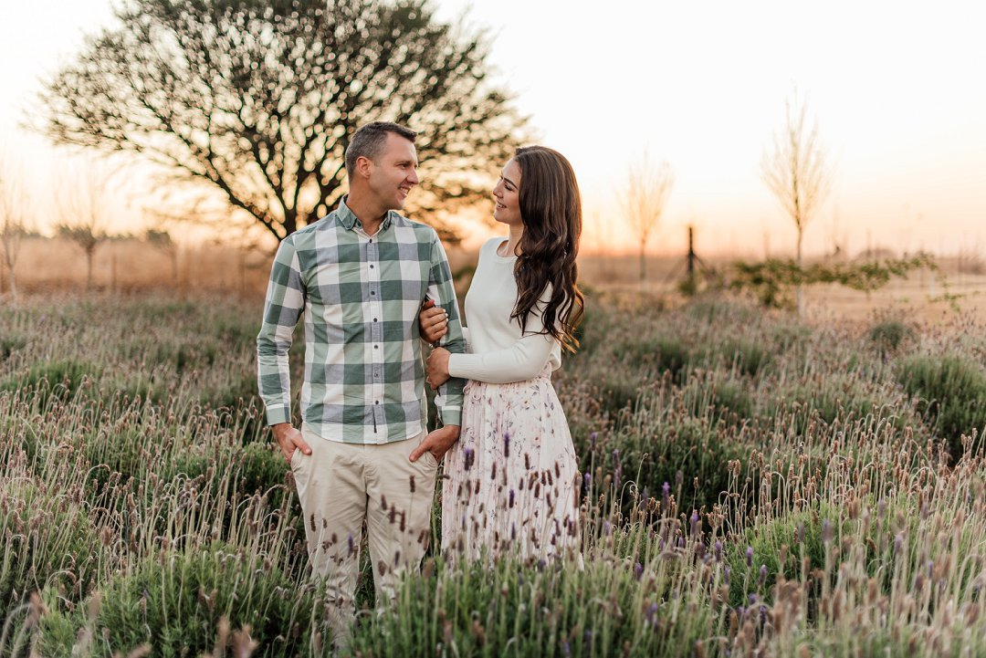 lavender field engagement shoot