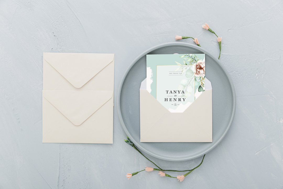 tropical luxury wedding stationerys
