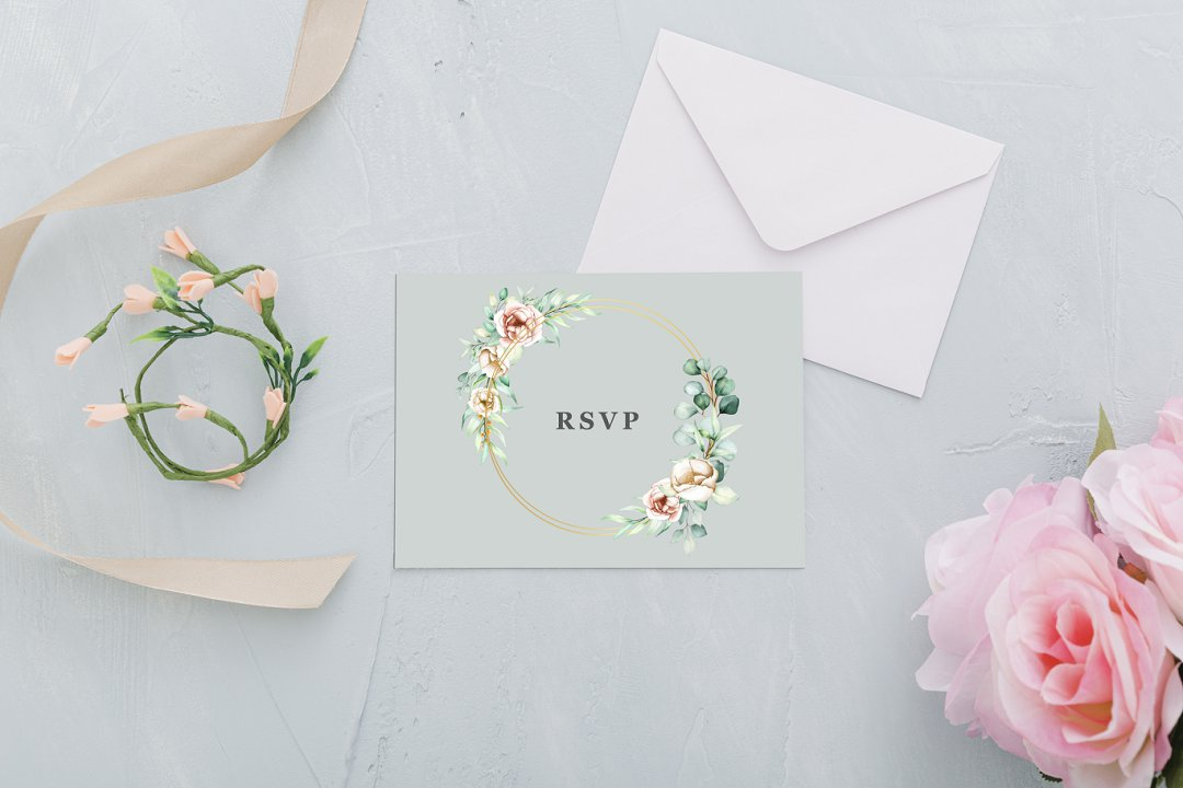 tropical luxury wedding stationery