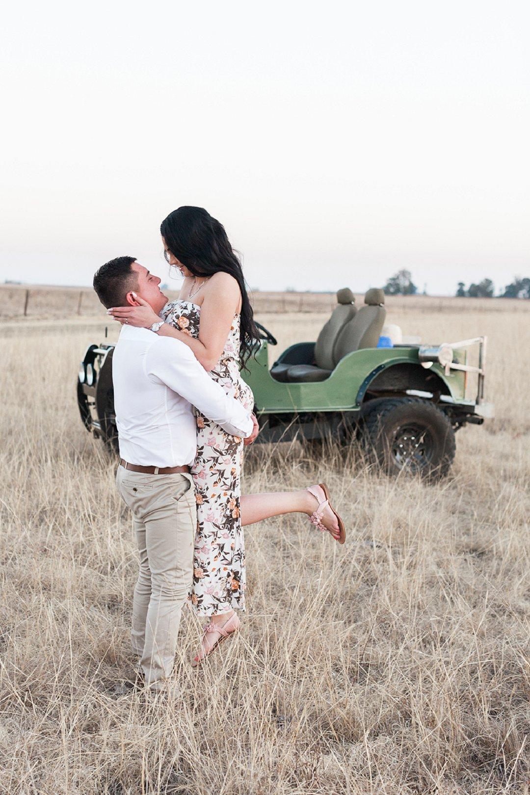 a safari themed engagement shoot