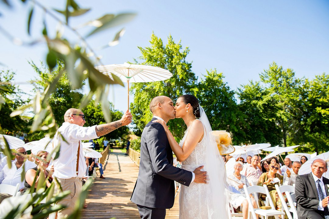 wedding ceremony at au de hex in Wellington Cape Town