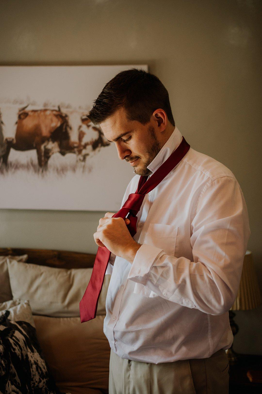 groom getting ready photos