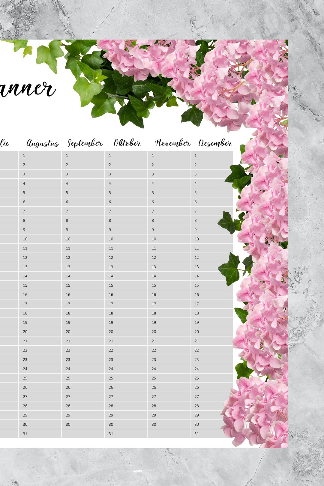 Free downloadable 2021 wedding year planner