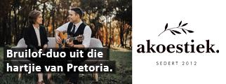 Bruilof-duo uit die hartjie van Pretoria